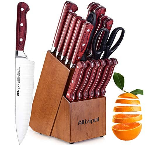 Alltripal 18-Piece Professional Knife Set