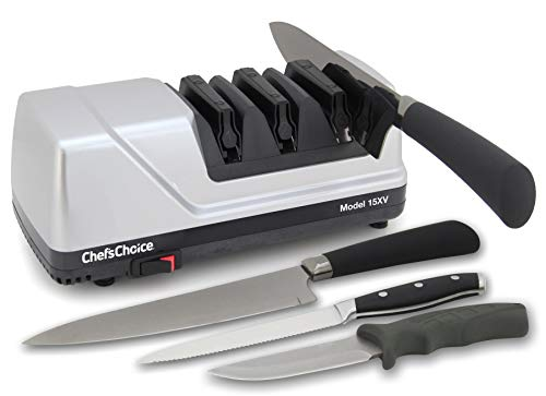 Electric Knife Straight and Serrated Knives Diamond Abrasives Sharpener
