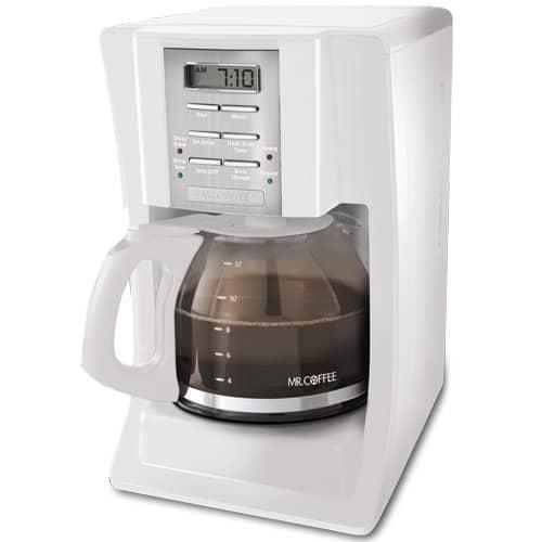Mr. Coffee SJX20 12 Cup Programmable Coffee Maker (White)