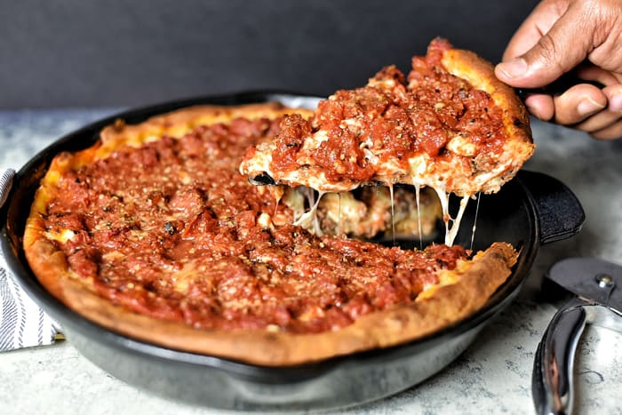 What to avoid while heating Deep-dish Pizza
