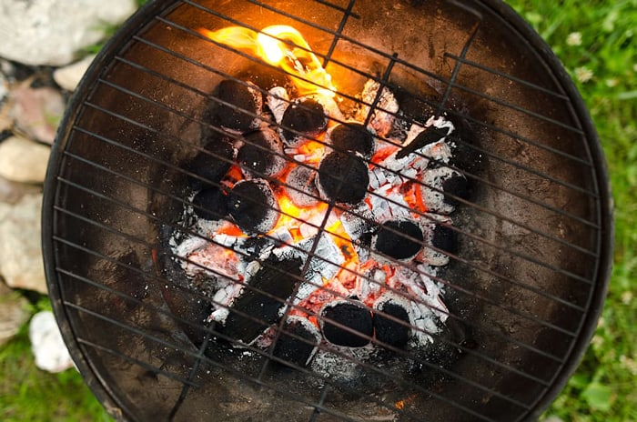 Why does charcoal grill take too long to cool down?