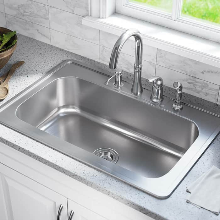 Clean your sink regularly