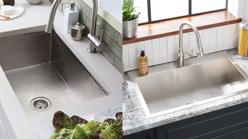Undermount vs drop in sink