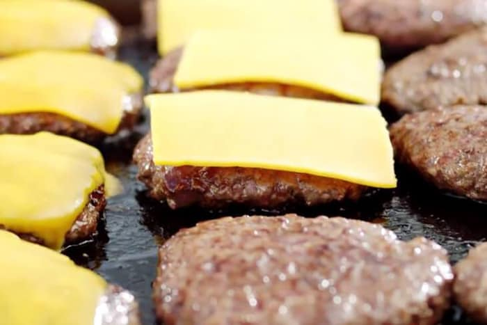 cook frozen burgers on a griddle