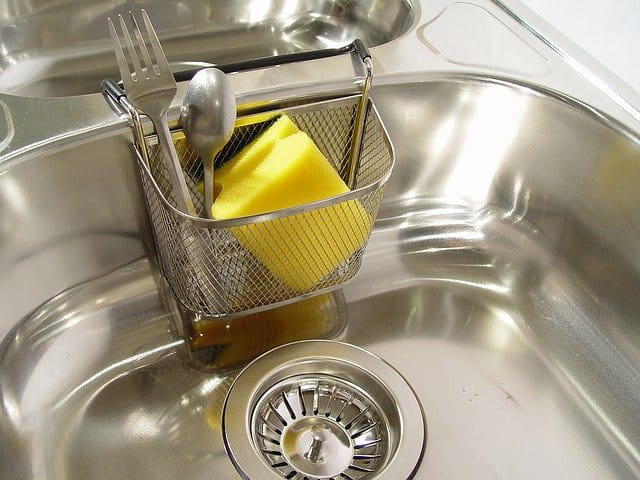 prevent water spots on stainless steel sink